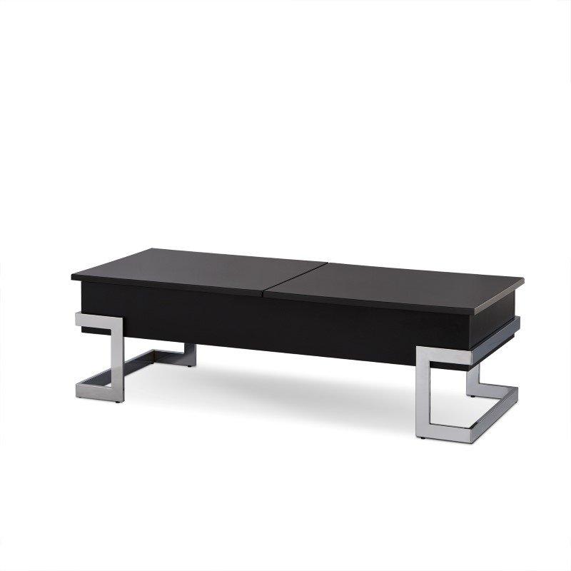 Black And Chrome Coffee Table Set: ACME Furniture Calnan Lift Top Coffee Table In Black And