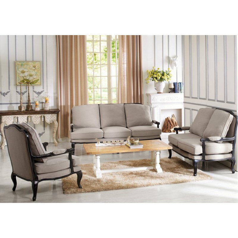 Baxton Studio Antoinette Classic Antiqued French Sofa Set