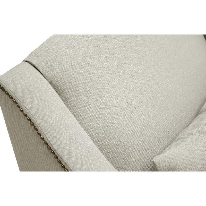 Baxton Studio Asteria Putty Gray Linen Modern Chaise Lounge