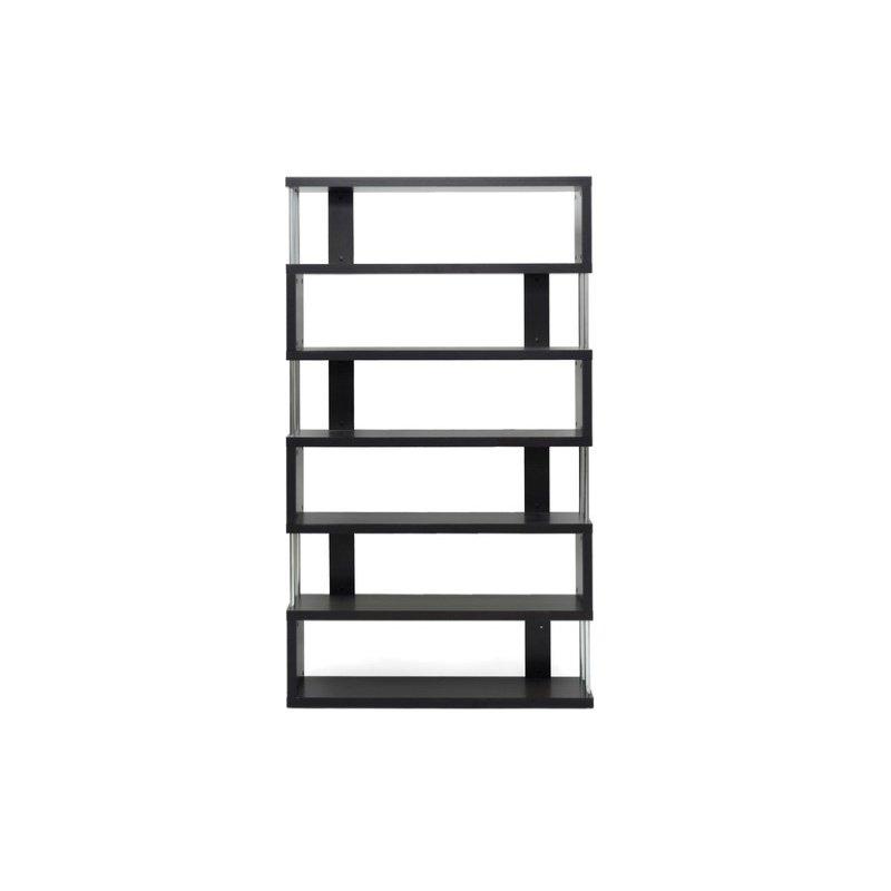 Baxton Studio Barnes Dark Brown SixinShelf Modern Bookcase