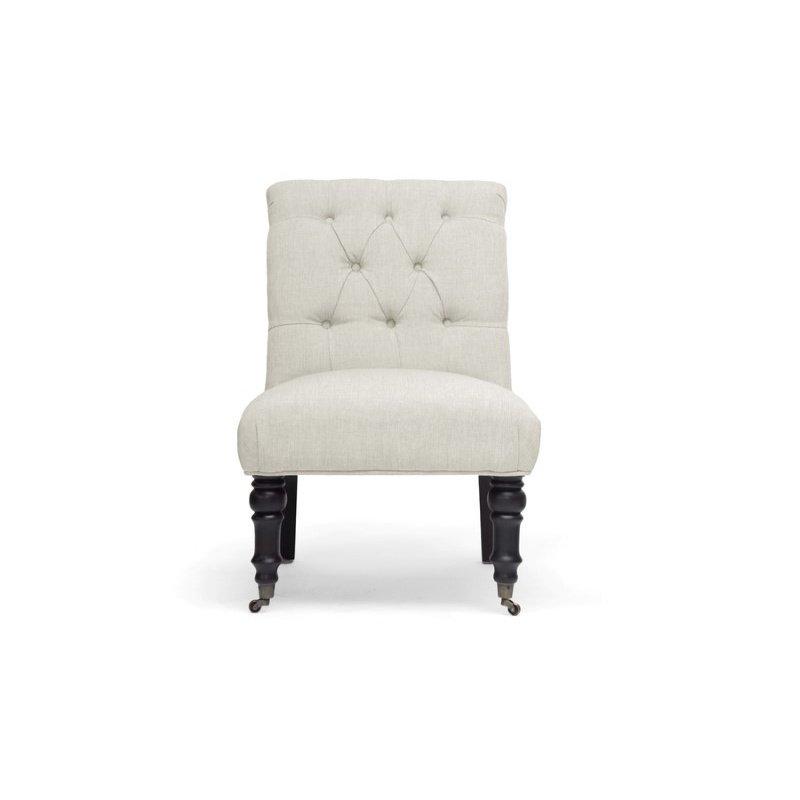 Baxton Studio Belden Beige Linen Modern Slipper Chair (Set of 2)