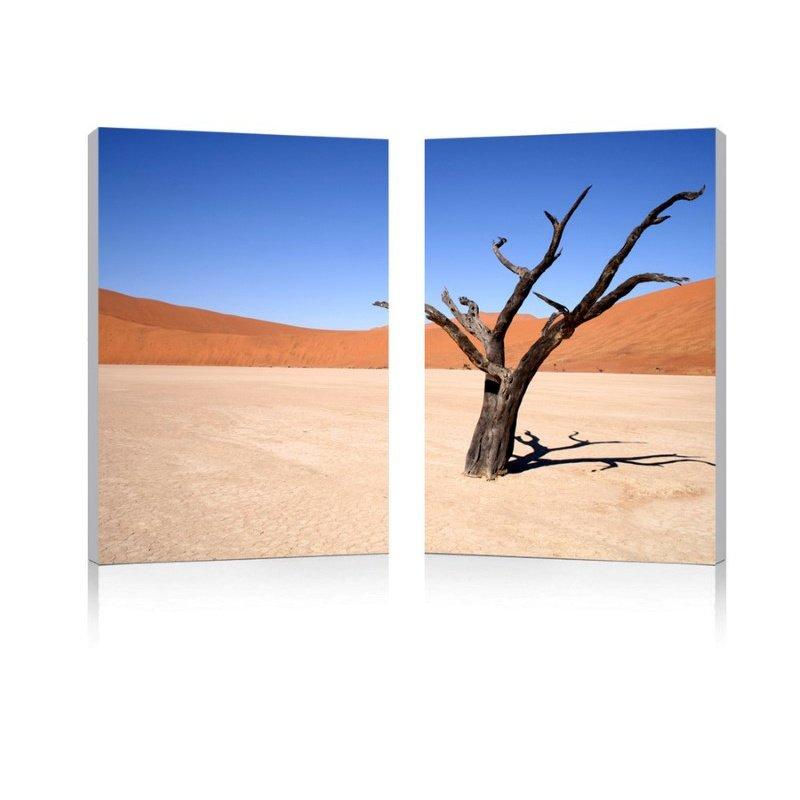 Baxton Studio Desert Solitude Mounted Photography Print Diptych