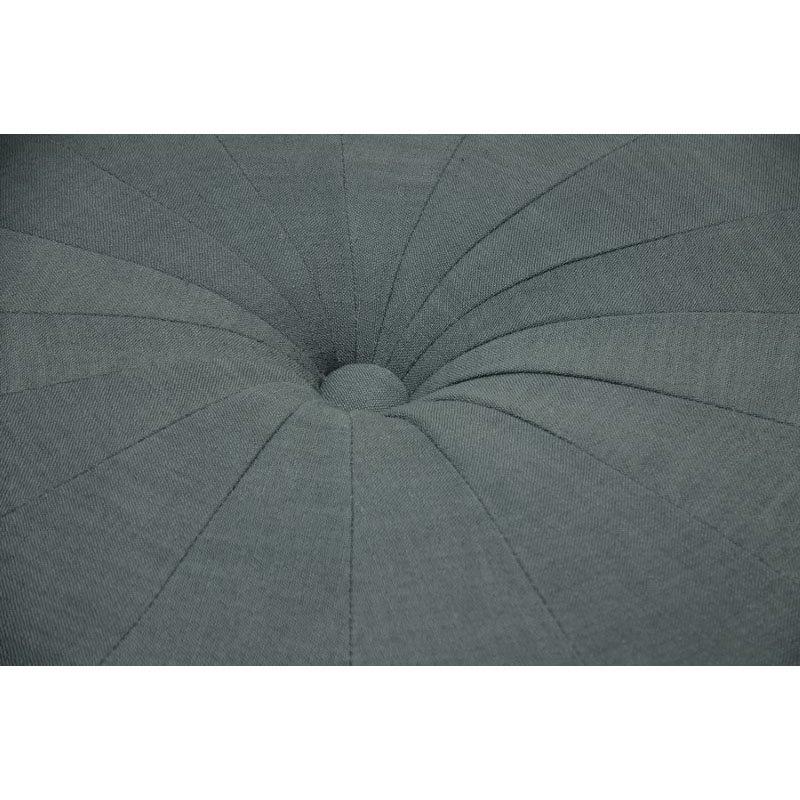 Baxton Studio Glazebrook Gray Linen Modern Tufted Ottoman