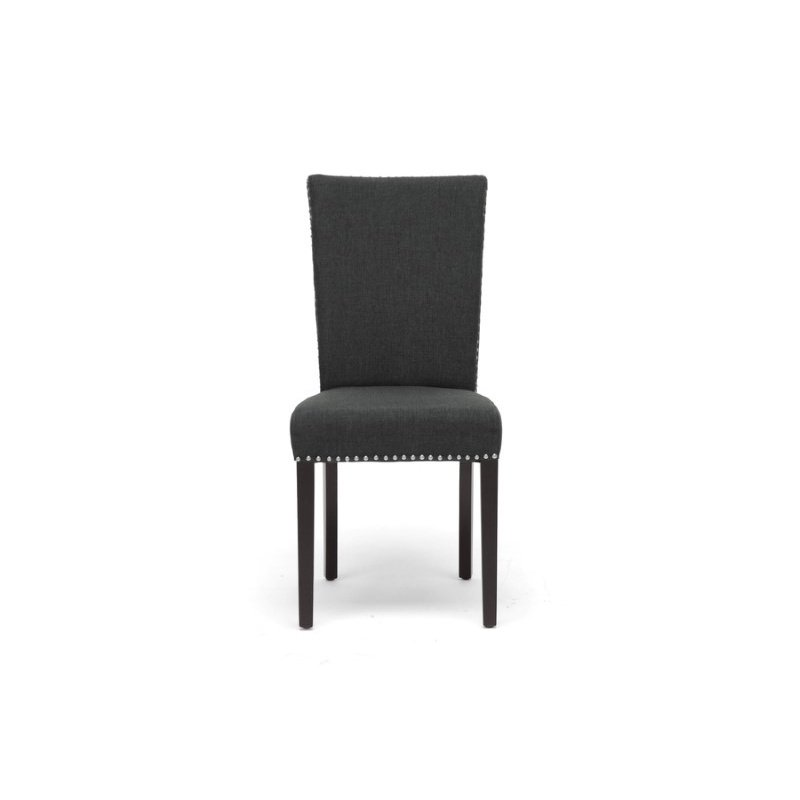 Baxton Studio Harrowgate Dark Gray Linen Modern Dining Chair (Set of 2)