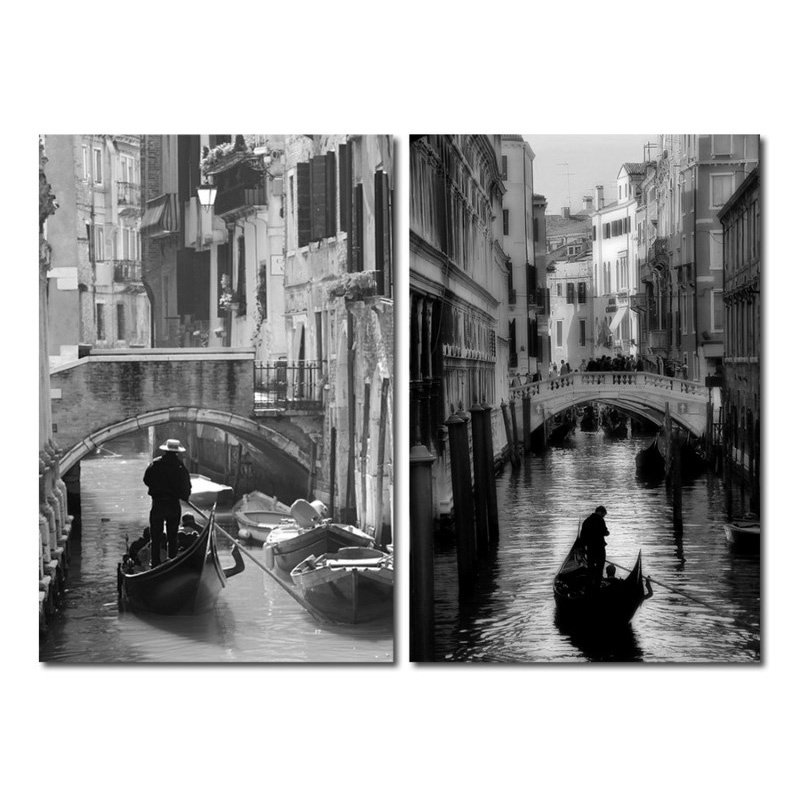 Baxton Studio Iconic Italy Mounted Photography Print Diptych