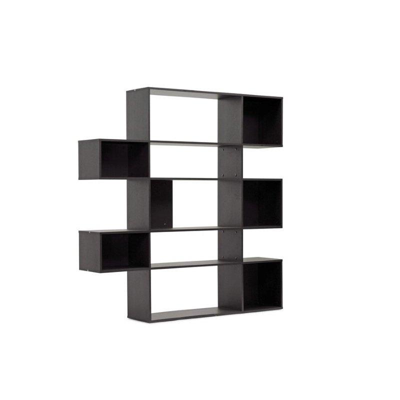 Baxton Studio Lanahan Dark Brown 5inLevel Modern Display Shelf