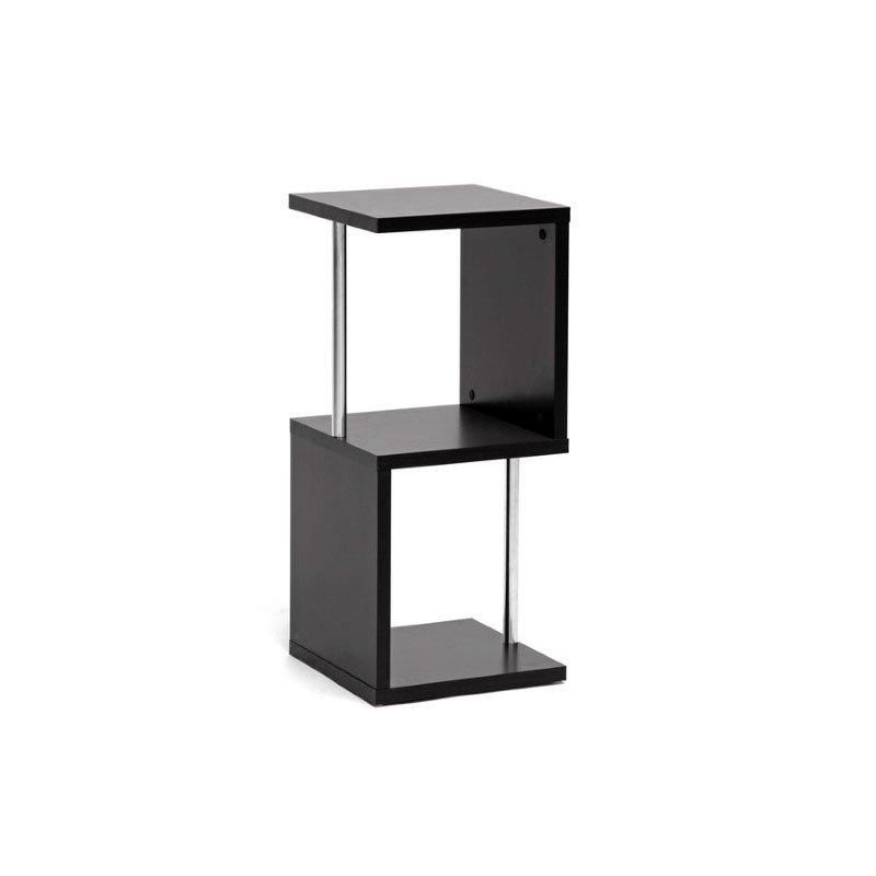Baxton Studio Lindy Dark Brown Modern Display Shelf (2inTier)