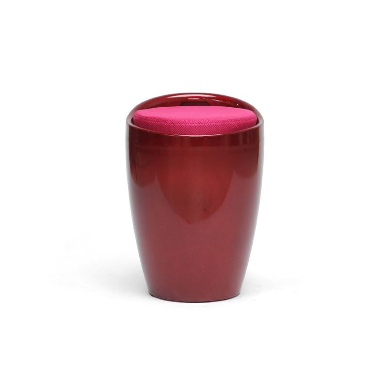 Baxton Studio Morocco Red Modern Stool with Storage