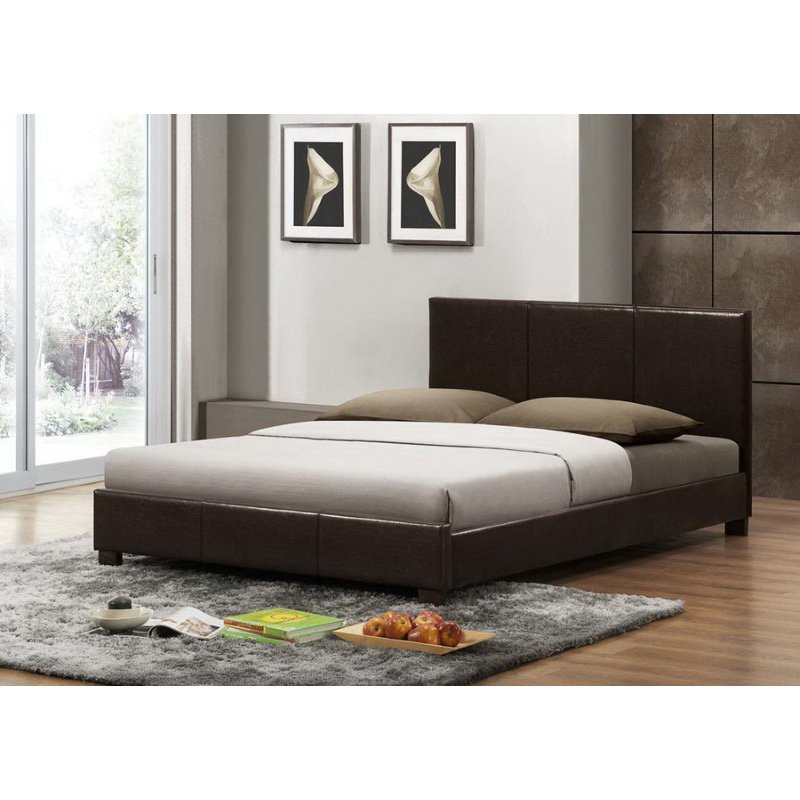 Baxton Studio Pless Dark Brown Modern Bed in Full Size