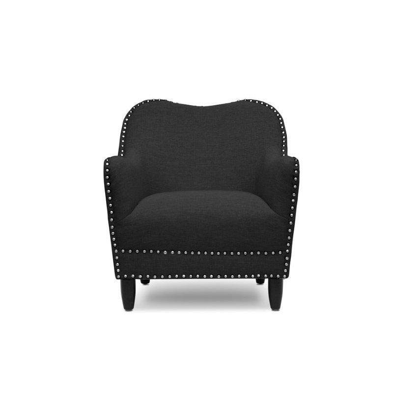 Baxton Studio Seibert Gray Linen Modern Accent Chair