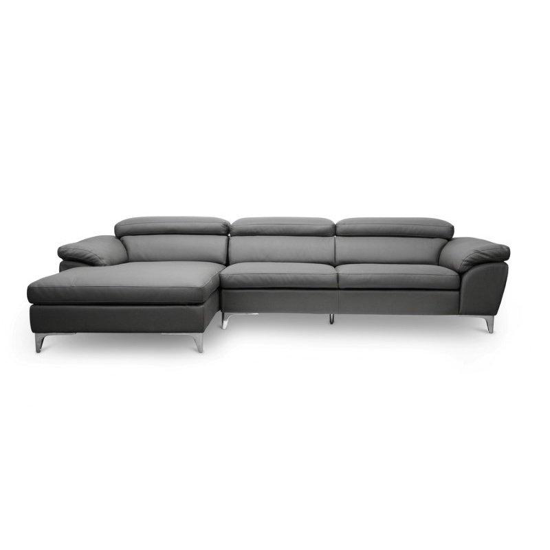 Baxton Studio Voight Gray Modern Sectional Sofa