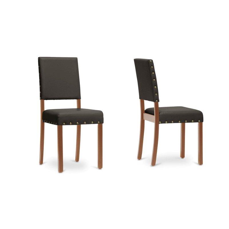 Baxton Studio Walter Dark Brown Modern Dining Chair (Set Of 4
