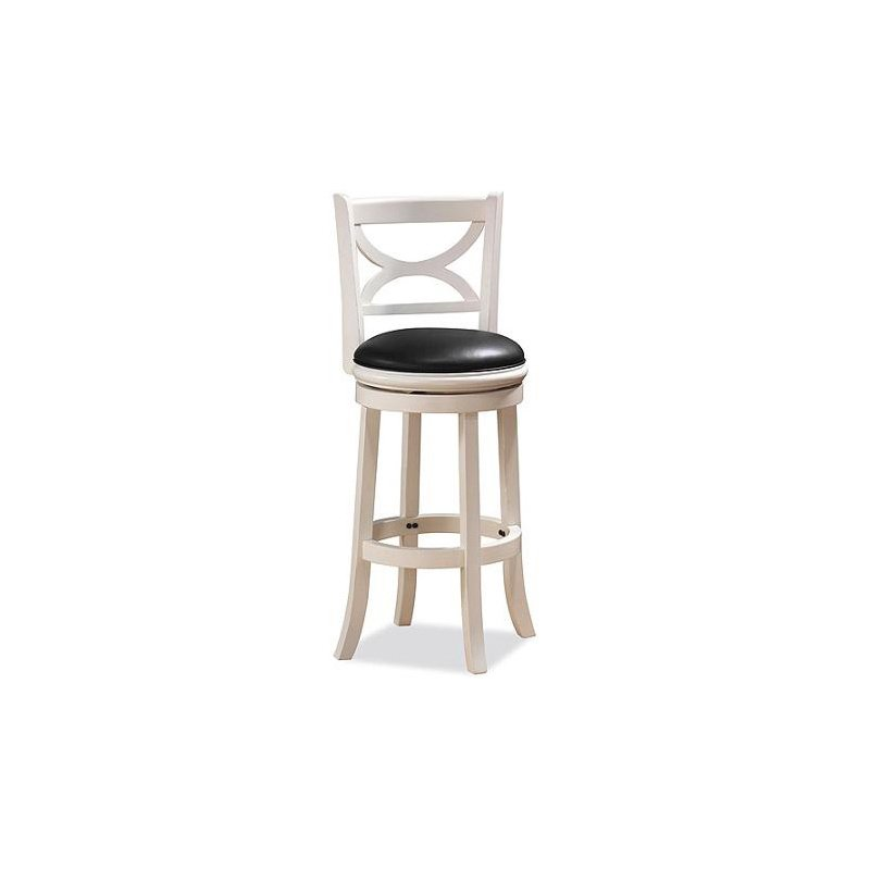 Boraam 24 Quot Florence Swivel Stool In Distressed White
