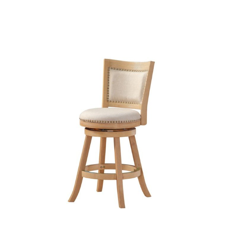 """Boraam 24"""" Melrose Counter Stool in Creme Wire-brush and Ivory"""