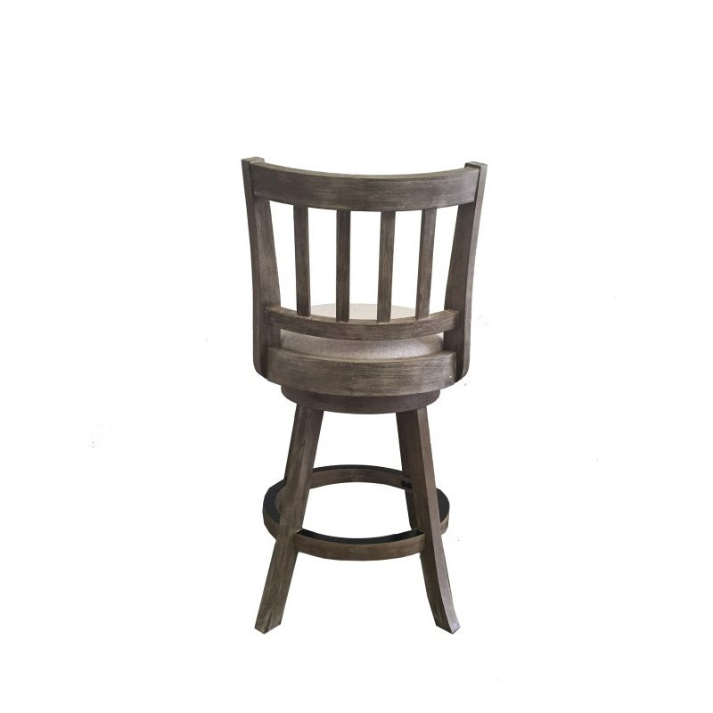 "Boraam 24"" Sheldon Counter Stool in Driftwood Gray Wire-brush and Ivory"