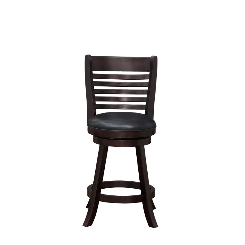 "Boraam 24"" Tierra Swivel Counter Stool in Merlot"