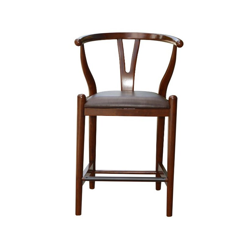 Boraam 24 Quot Wishbone Counter Stool In Walnut