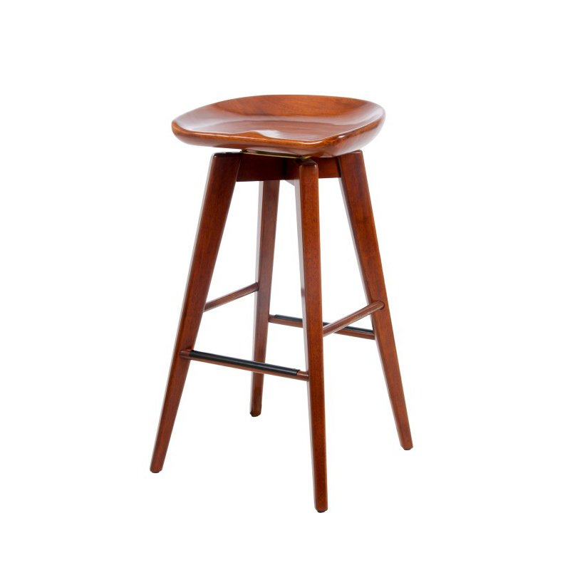 "Boraam 29"" Bali Swivel Stool in Walnut"