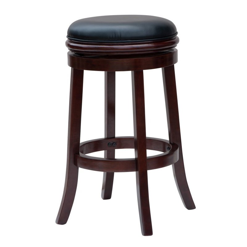 "Boraam 29"" Boraam Backless Barstool in Cherry"