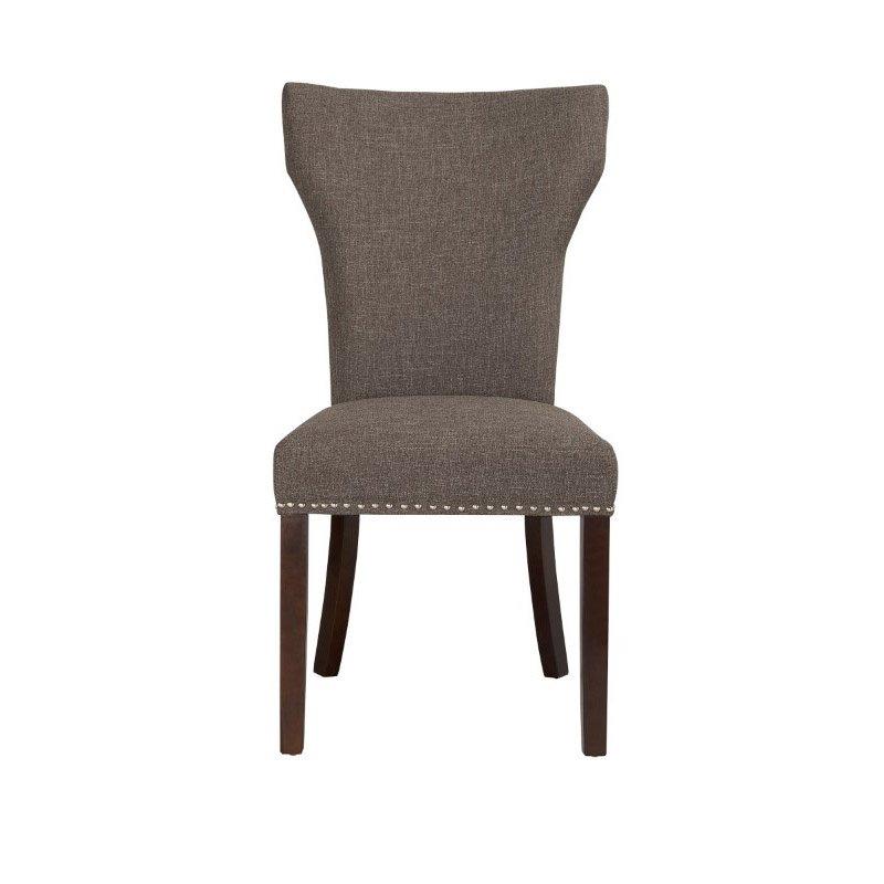 Boraam Monaco Parson Dining Chair in Steel-Gray (Set of 2)