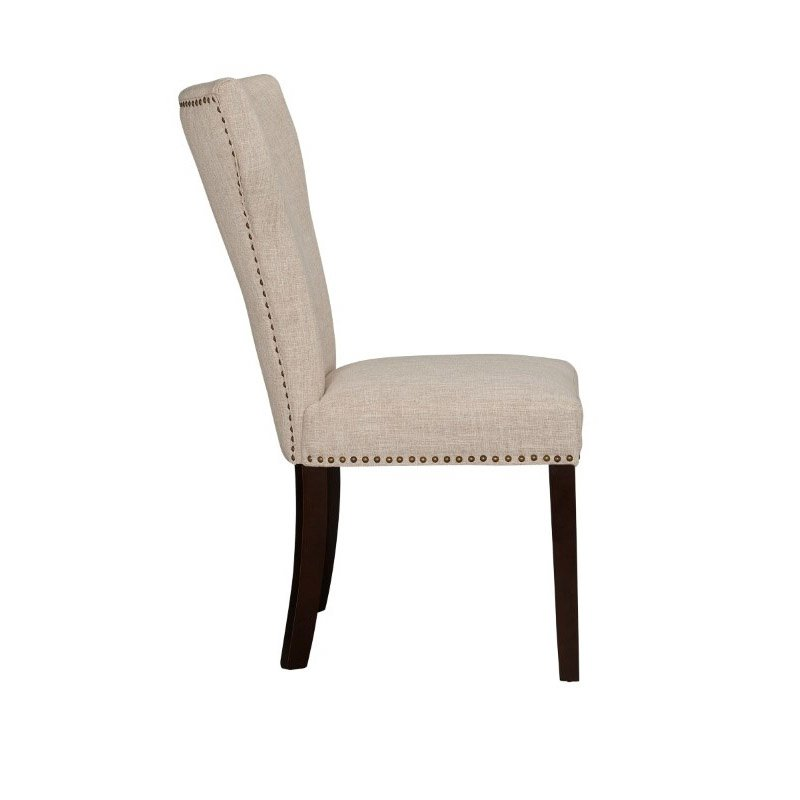 Boraam Monaco Parson Dining Chair in White-Sand (Set of 2)