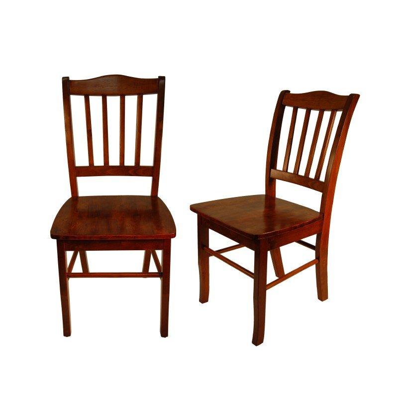 Boraam Shaker Chairs in Walnut (Set of 2)