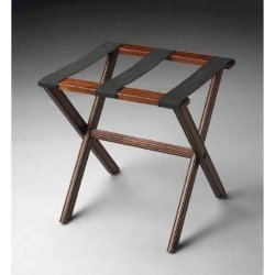 butler specialty luggage rack in plantation cherry finish - Luggage Racks For Bedrooms
