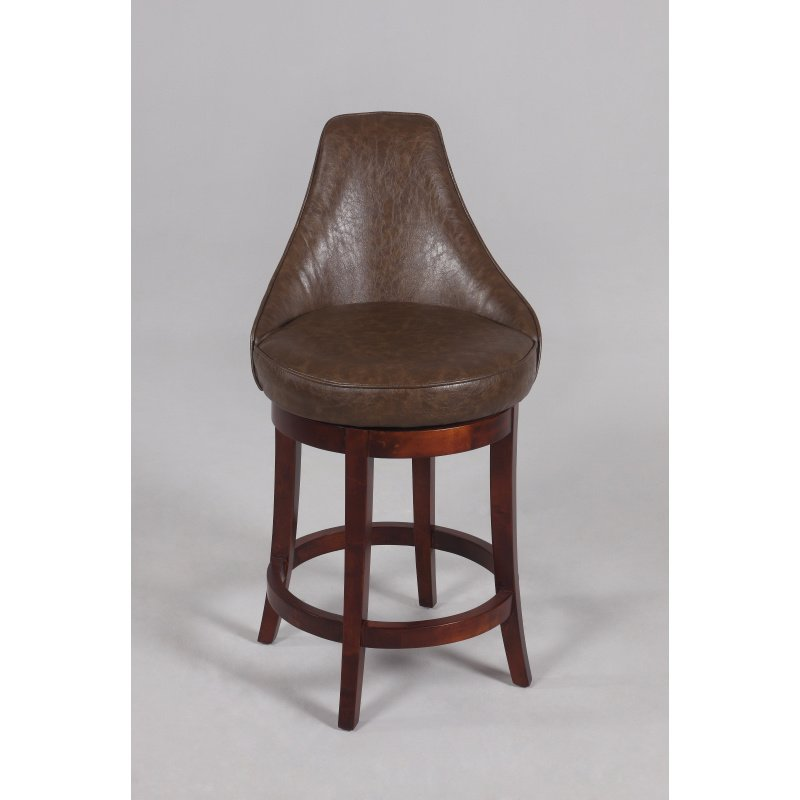 """Wooden Revolving Stool Light Brown Swivel Bar Pub Chair: Chintaly Imports 0290 26"""" Swivel Solid Birch Counter Stool"""