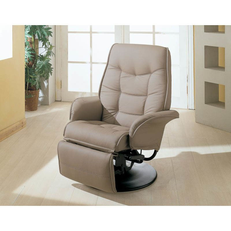Coaster Furniture Leatherette Swivel Recliner Chair In
