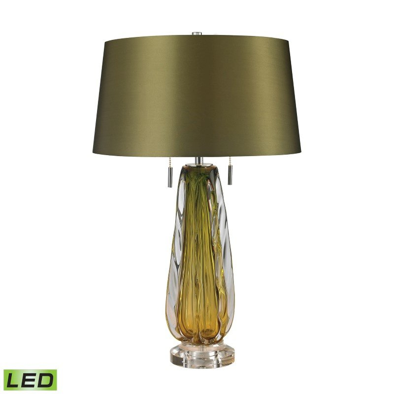 Dimond Lighting Modena Free Blown Glass LED Table Lamp in Green (D2670-LED)