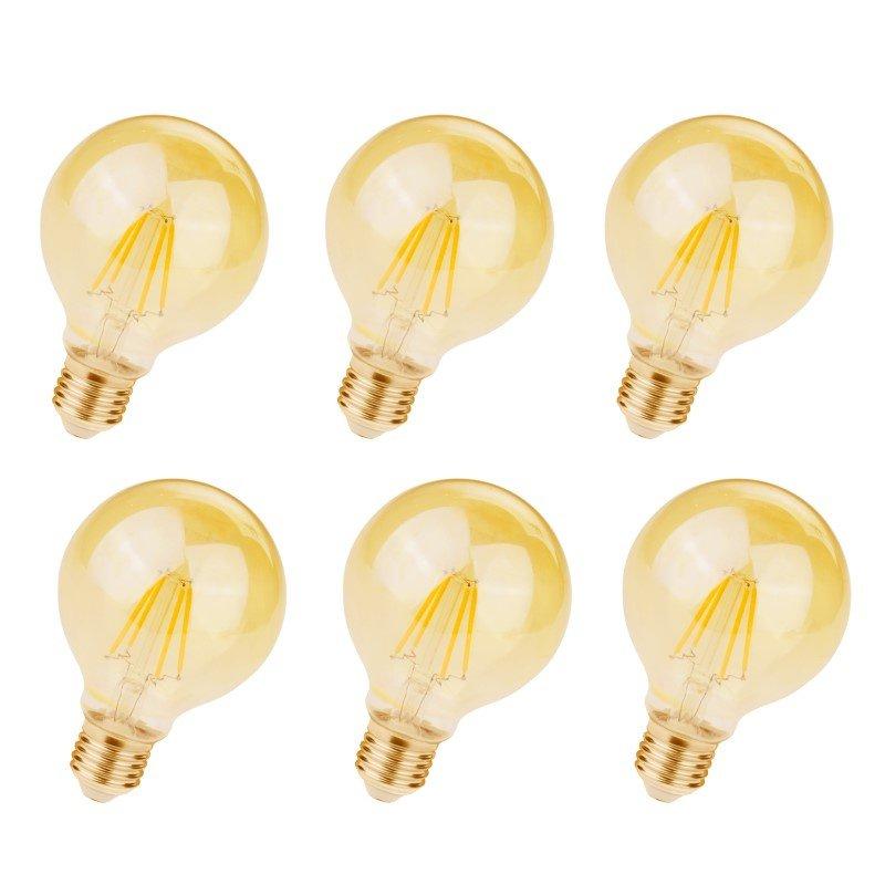 Newhouse Lighting 40w Equivalent Incandescent G25 Dimmable: Elitco Lighting LED G25 Light Bulb, 2200K, 360deg, CRI80