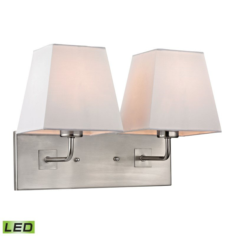 ELK Lighting Beverly 2 Light LED Wall Sconce In Brushed Nickel (17161/2-LED)