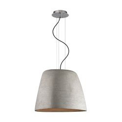 Elk Lighting Triangle 1 Light Pendant In Concrete And Chrome Lc200 140 15