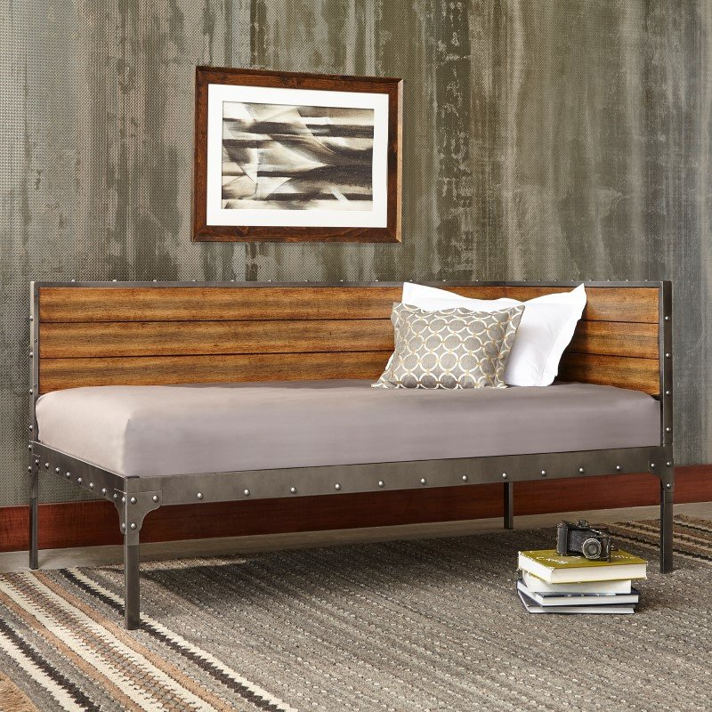 Fashion Bed Group Emmett Metal Corner Daybed With