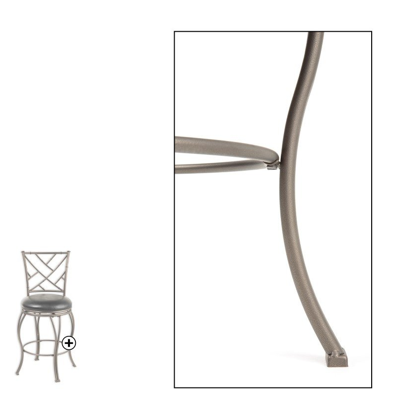 Fashion Bed Group Honolulu Metal Counter Stool With Black