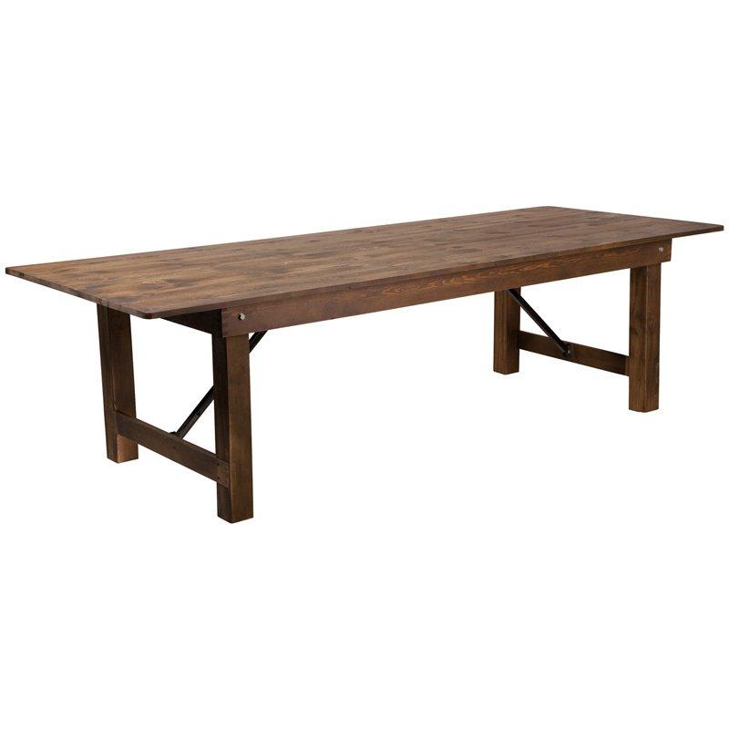 Flash Furniture HERCULES Series X Antique Rustic Solid Pine - Flash furniture coffee table