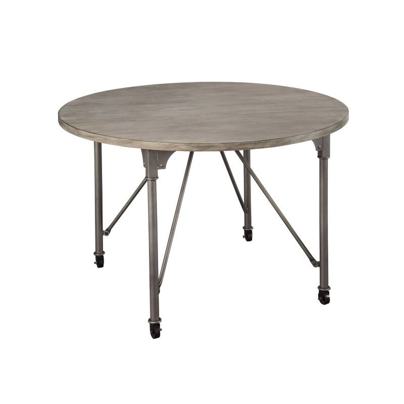 Homeroots Furniture Dining Table In Gray Oak And Sandy Gray Ash Wood Veneer Mdf Steel 318920