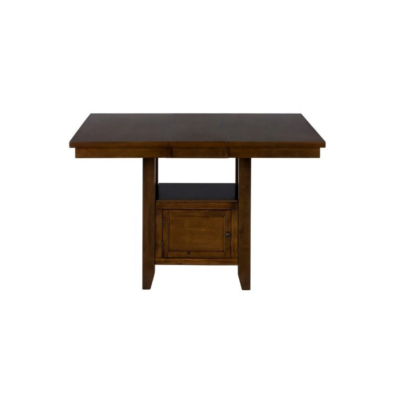 Jofran Chadwick Counter Height Table With Corner Bench And: Jofran Taylor Cherry Counter Height Storage Table