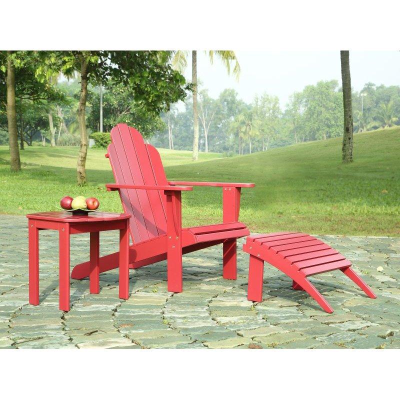 Linon Lattice Vanity Set Multiple Colors: Linon Red Adirondack Chair