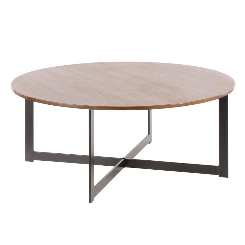Industrial Coffee Table Dark Wood: Lumisource Cosmopolitan Industrial Coffee Table In Black