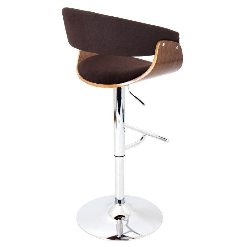 Lumisource Vintage Mod Height Adjustable Barstool in Walnut and Espresso