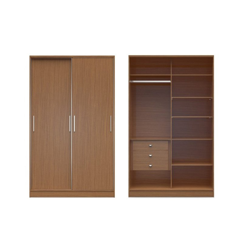 storage cream hanging products open compartments alone collection wardrobe and wide maple comfort stand rod chelsea manhattan clothing drawers basic with closet