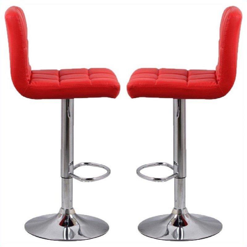 glen adjustable bar stool set of 2