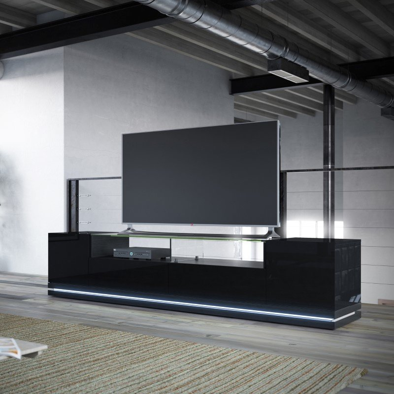 Manhattan Comfort Vanderbilt Tv Stand With Led Lights In