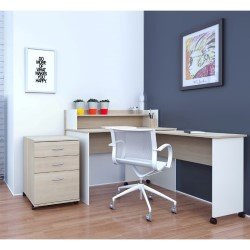 Office Desk Natural Nexera Atelier 2pieces Home Maple Ivory Ezpz Shop