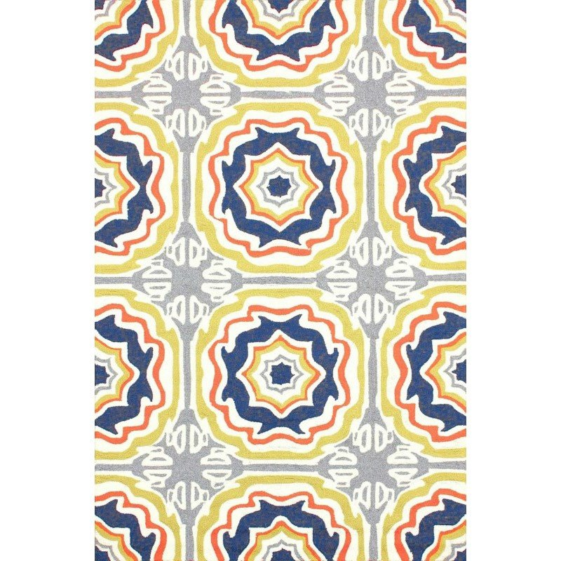 Nuloom Hand Hooked Sevilla Tiles Indoor Outdoor Area Rug 8 X 10 Multi Rectangle Hjair12a 8010