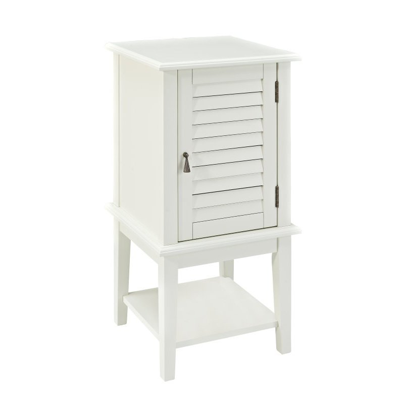 Powell Home Fashions White Shutter Door Table 929 352