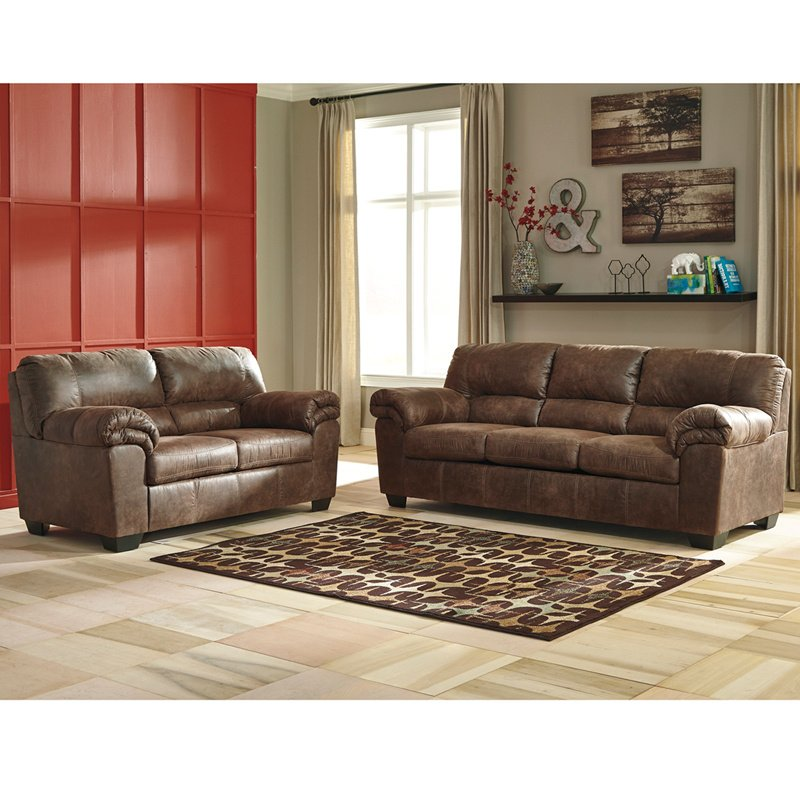 Signature Design By Ashley Bladen Living Room Set In Coffee Faux Leather Fsd 1209set Cof Gg