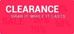 Clearance. Grab it while it lasts.