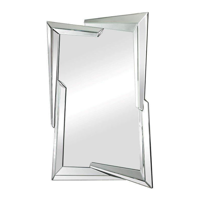 Sterling industries juxtaposed angles beveled edge mirror